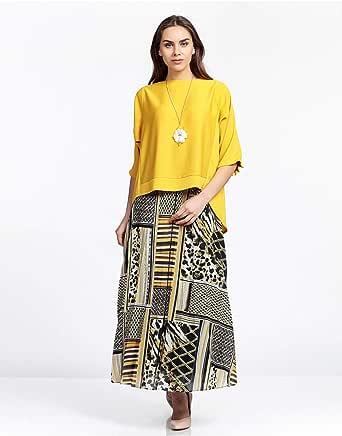 PRANDO Skirt for Women, Size 48 EU, Multi Color