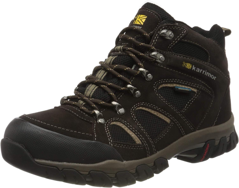 Karrimor Mens Mens Bodmin IV Waterproof Walking Hiking Boots K748 Brown Suede
