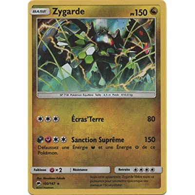 "Carte Pokémon ""Zygarde"" 150 PV - 100/147 SL3 - Holo Rare"