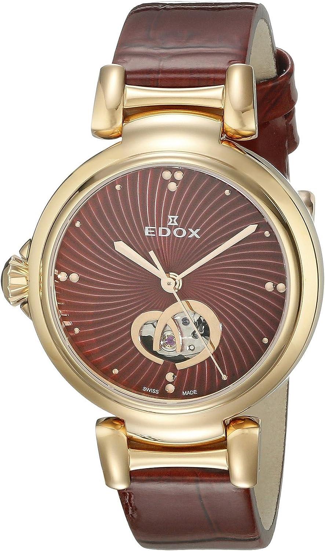 [エドックス]Edox 腕時計 LaPassion Analog Display Swiss Automatic Red Watch 85025 37RC ROUIR レディース [並行輸入品]
