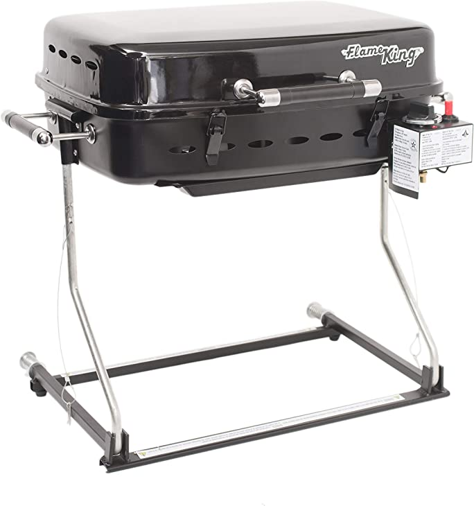 Flame King RV Or Trailer Mounted BBQ - Motorhome Gas Grill