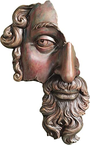 Design Toscano NG34487 A Classical Fragment 17th Century Wall Sculpture,wood tone