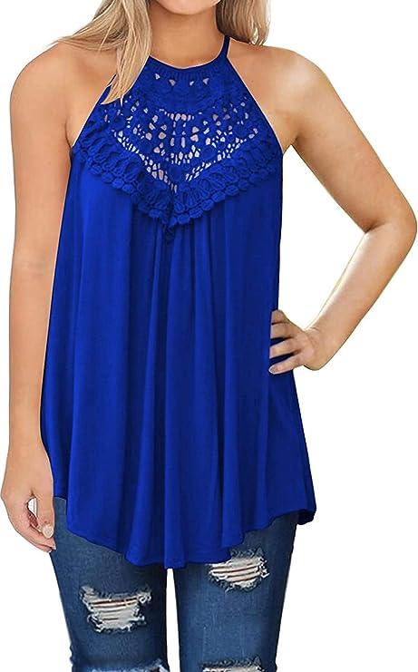 Aqua Women/'s Floral Lace Two Tone Chevron Sleeveless Halter Dress