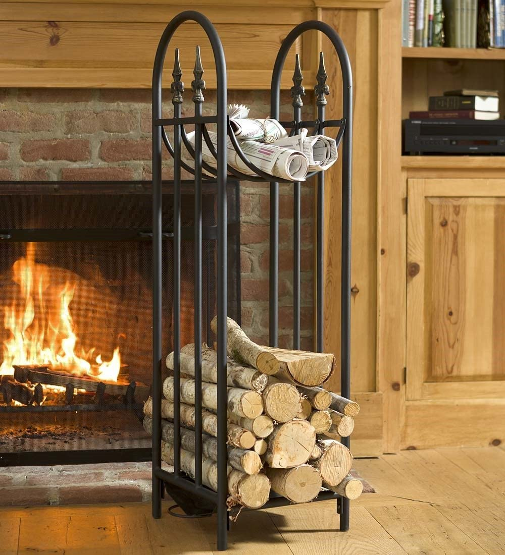 Plow Hearth Hearthside Finial Log Rack