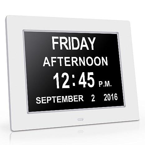 chitronicmemory pérdida Digital Calendario DíA Extra grande – Reloj con caracteres día y mes – ideal