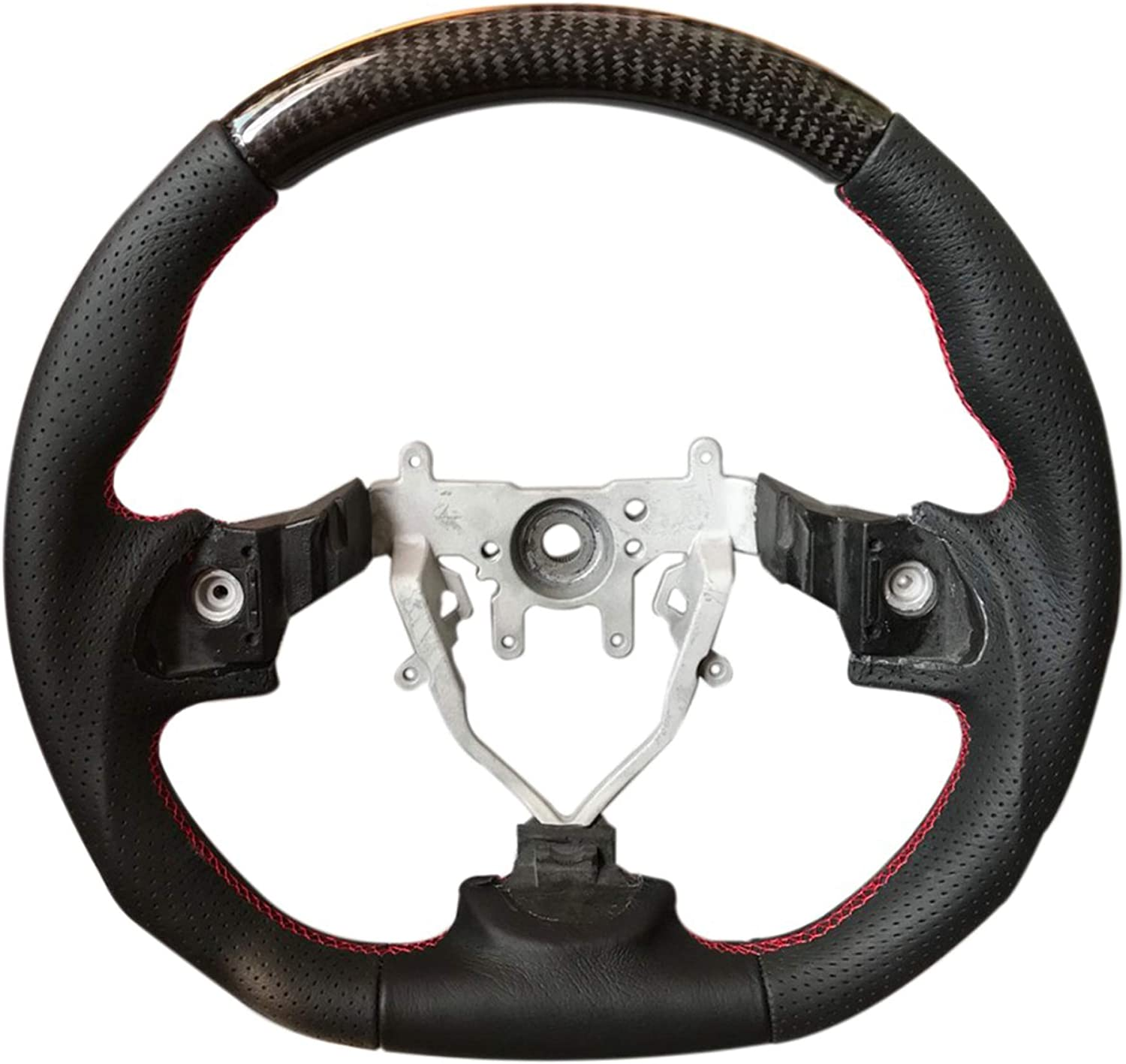 07//12 ~ SS358-DL Red Stitch A ~ DAMD STEERING WHEEL For IMPREZA WRX-STI GR GV