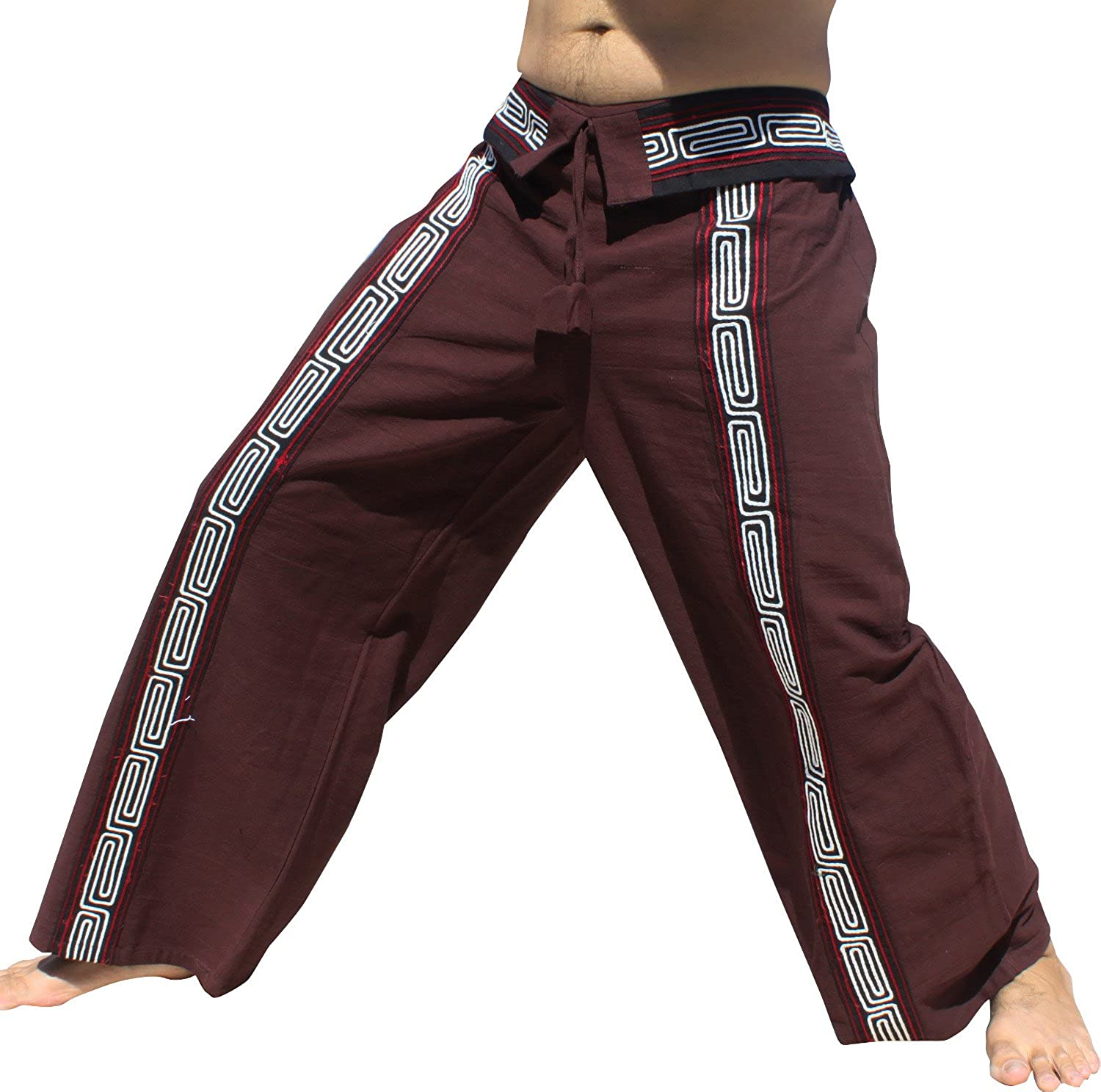 Raan Pah Muang PANTS メンズ B0784SJ69R Medium|Brown With White Rope Tones Brown With White Rope Tones Medium