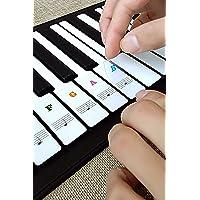 Piano etiquetas clave, obtener etiquetas transparentes de piano de piano teclado extraíble Nota pegatinas Negro Blanco para 36/49/54/61/88 teclas