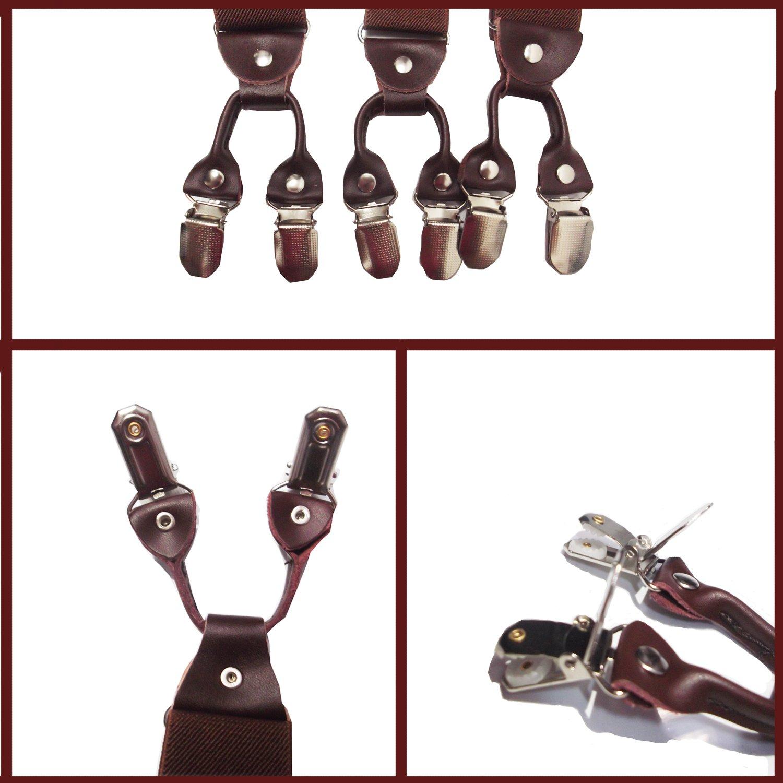FydRise Bretelle Uomo Donna Y Forma con 6 clips Elastici Registrabili Larghezza 3.5cm Lungo 115cm