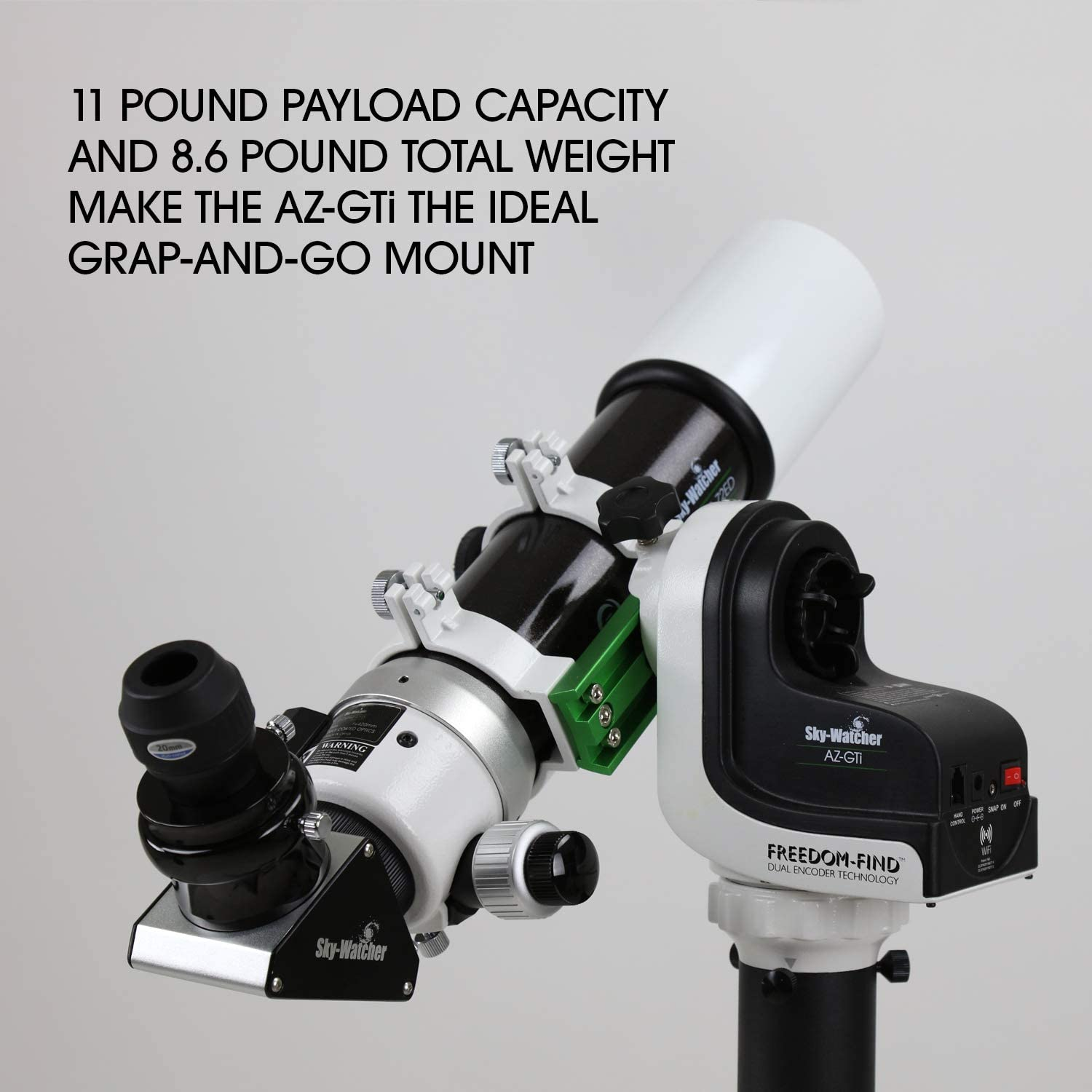 Wi-Fi Controlled Sky-Watcher AZ-GTE Multi-Purpose Alt-Azimuth iOS /& Android Go to Telescope Mount