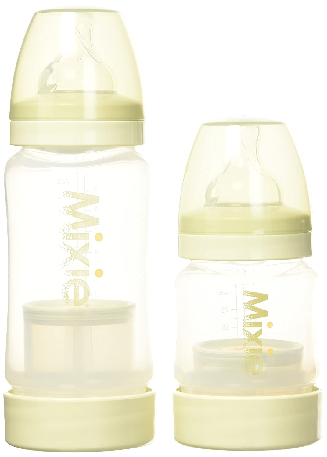 Mixie Baby Formula Mixing Bottle, Clear/Green, 4-8 Mixe Baby