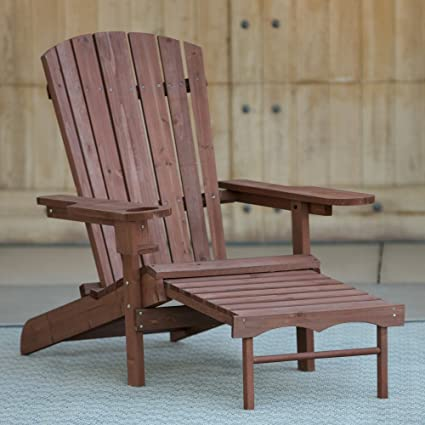 Cool Amazon Com Adirondack Deck Chair With Pull Out Ottoman Cjindustries Chair Design For Home Cjindustriesco