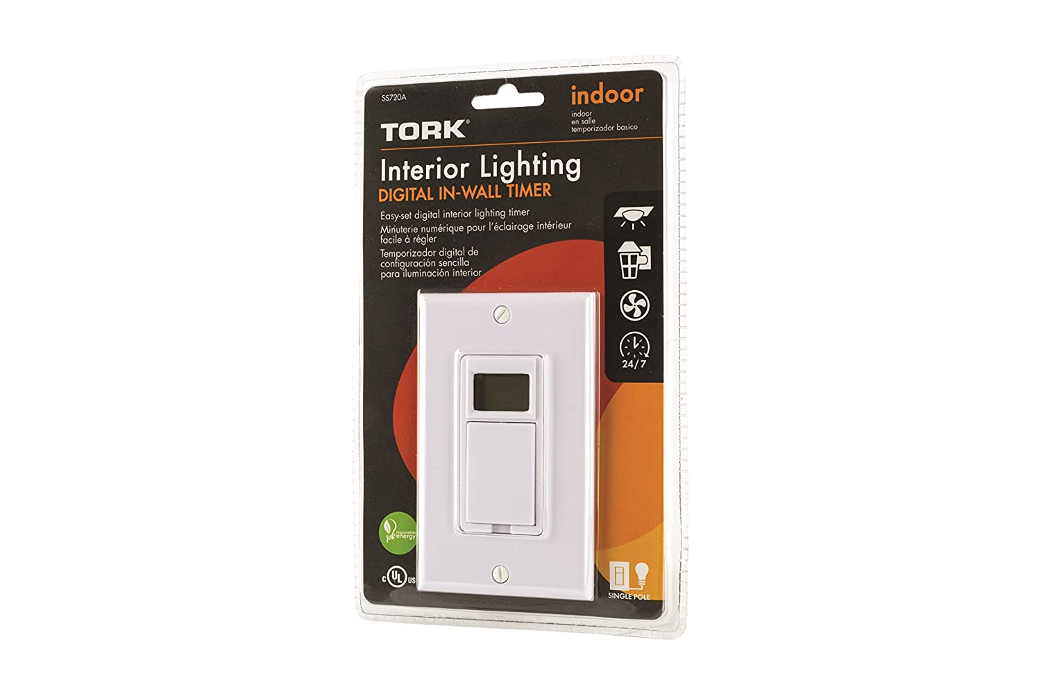 Tork SS720A - 24 Hr or 7 Day Digital In-Wall Timer - White: Amazon.com: Industrial & Scientific