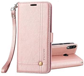 Ferilinso Funda para Xiaomi Redmi Note 6 Pro,Carcasa Cuero Retro Elegante con ID Tarjeta de Crédito Tragamonedas Soporte de Flip Cover Estuche de(Oro ...