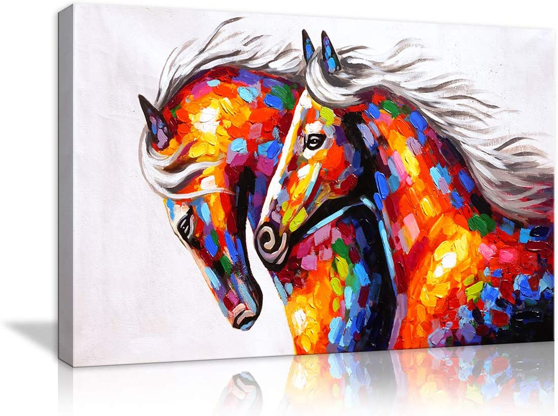 FRAMED HD Canvas Print Poster Art for Room Decor Running Horse Wall Art Painting