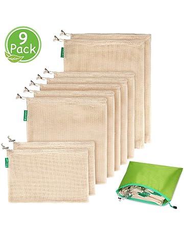 Ymiko Bolsa Reutilizable Algodon de Vegetales, Bolsas Reutilizables Compra, Bolsas de Malla Transpirables Adecuado