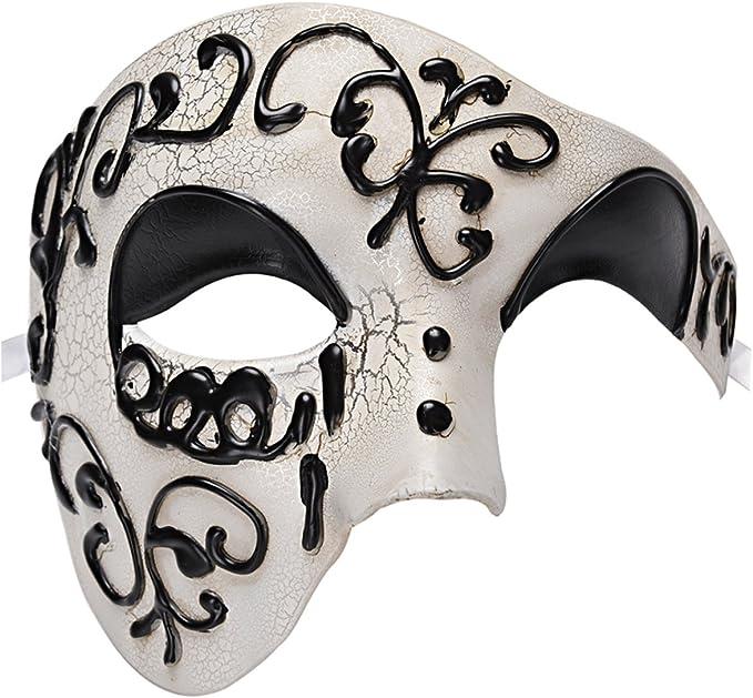 Da Uomo Masquerade Maschera kapmore Masquerade Maschera Fantasma Dell/'Opera VINTAGE META/'