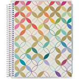 Erin Condren Daily Family Planner - Metallic Mid Century Circles, 7x9, Non-Dated Daily Organizer Features Three Months of Ope