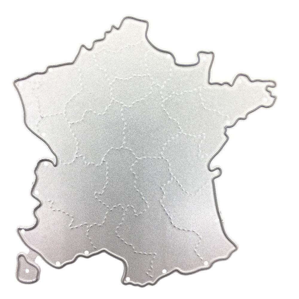 Stencil Set |Stencil Plantillas en Forma de Mapa del País de Plástico Reutilizables para Diario, Pintura, Scrapbooking,Diario,Artes,Manualidades de DIPOLA: ...