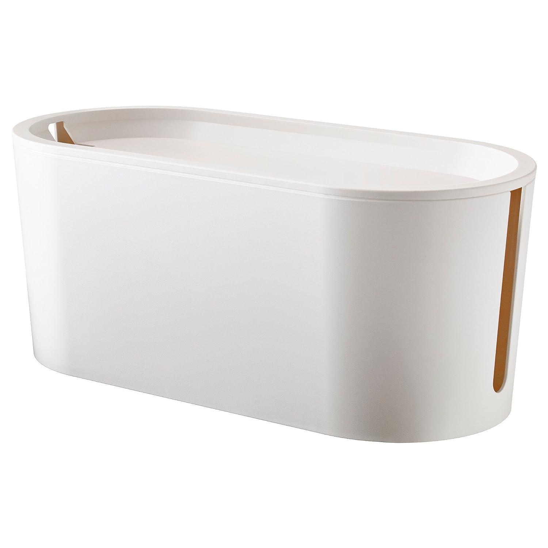 Kabelbox Ikea ikea romma kabelmanagement box mit deckel weiß amazon de küche