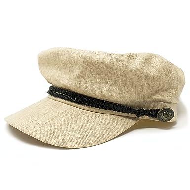 premium selection 9068f 2c809 THE SHOP VILLAGE CORNER Greek Fisherman Fiddler Cap Hat (Beige) at Amazon  Women s Clothing store