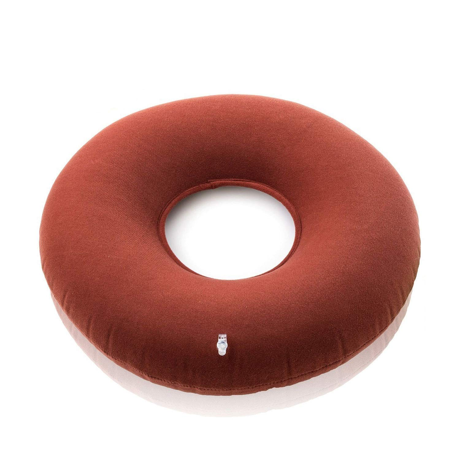 Jueven Premium Round Inflatable Donut Cushion Comfortable for Hemorrhoid,Back and Tailbone Pain Relief, Medical Donut Cushion Gas Gasket