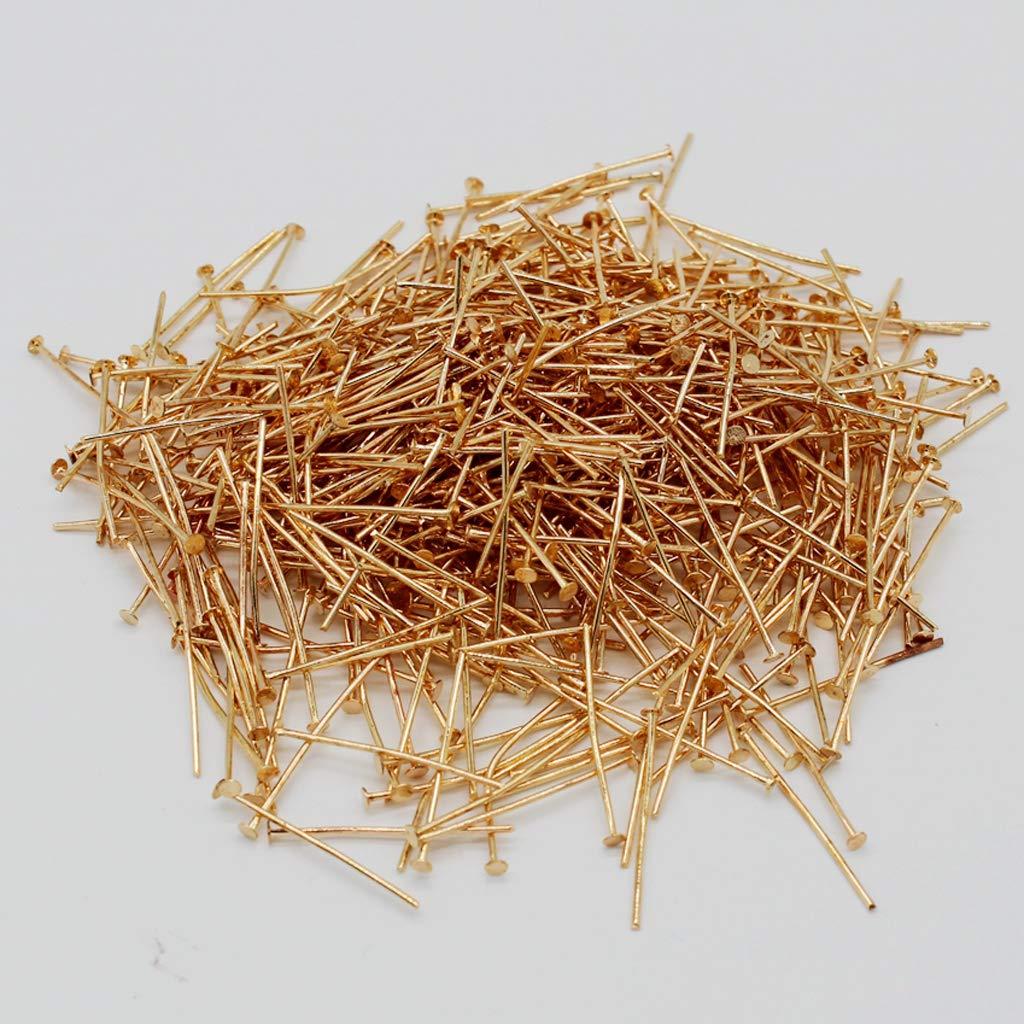 26 mm F Fityle 500Pcs Nadel Nietstifte Kopfstifte Stifte Nadel Kopf Pins in Gold Farbe f/ür Schmuck Handwerk