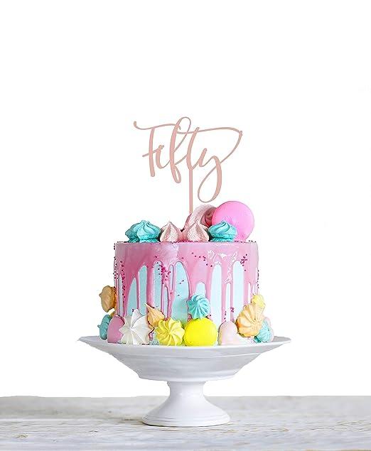 Decoración para tarta de 50 cumpleaños de acrílico para 50 ...