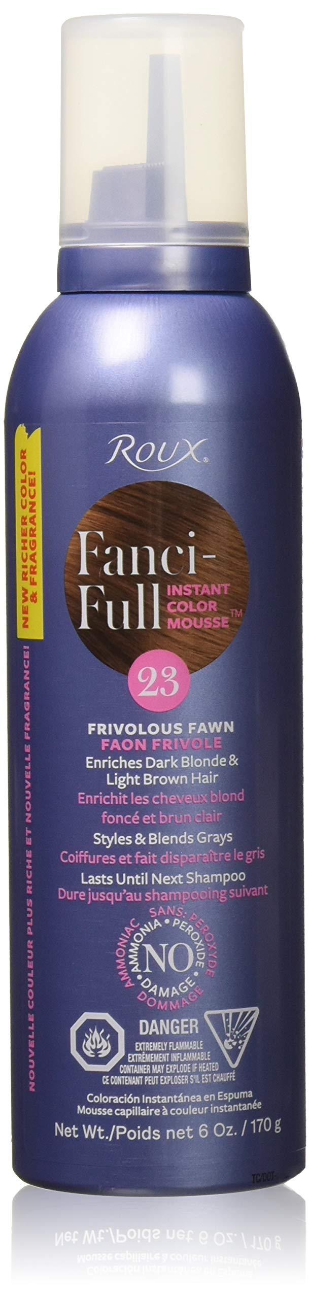 Roux Fanci-Full Mousse, 23 Frivolous Fawn, 6 Fluid Ounce