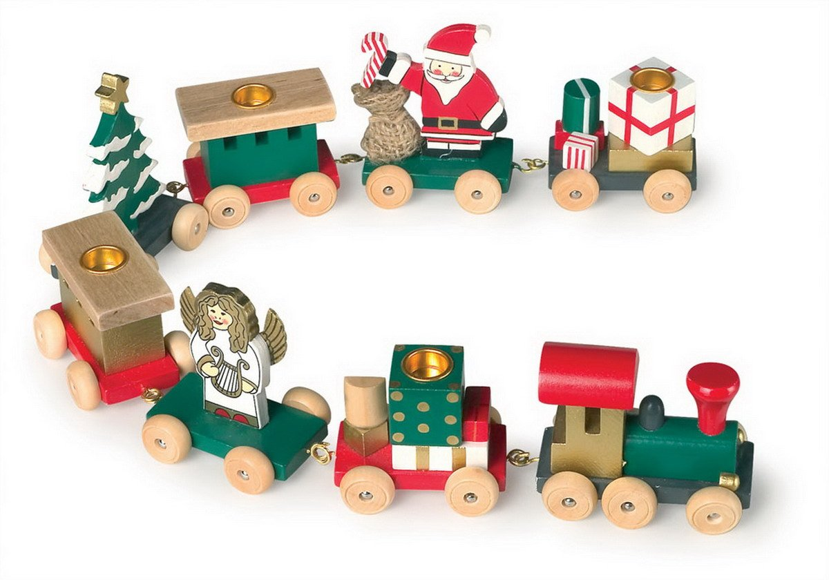 amazoncom christmas caravan decoration train kitchen dining - Christmas Train Decoration