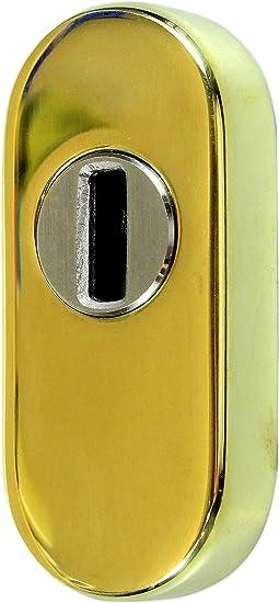SN-TEC Schutzrosette//Schieberosette Zylinderschutz oval mit Kernziehschutz 14,