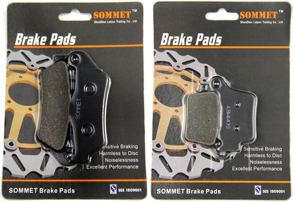 SOMMET Motorcycle Front 2T 2003-2016 Rear Brake Pads for KTM SX 250 Upside Down Forks
