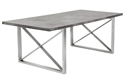 Sunpan Modern Catalan Concrete Dining Table, Grey