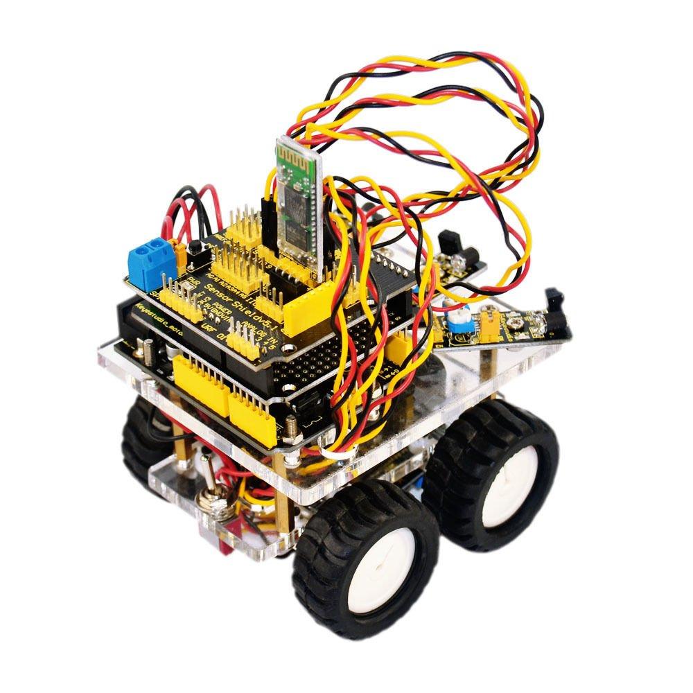 New! Desktop Wireless Bluetooth Smart Car DIY Robot Kit for Arduino Starter