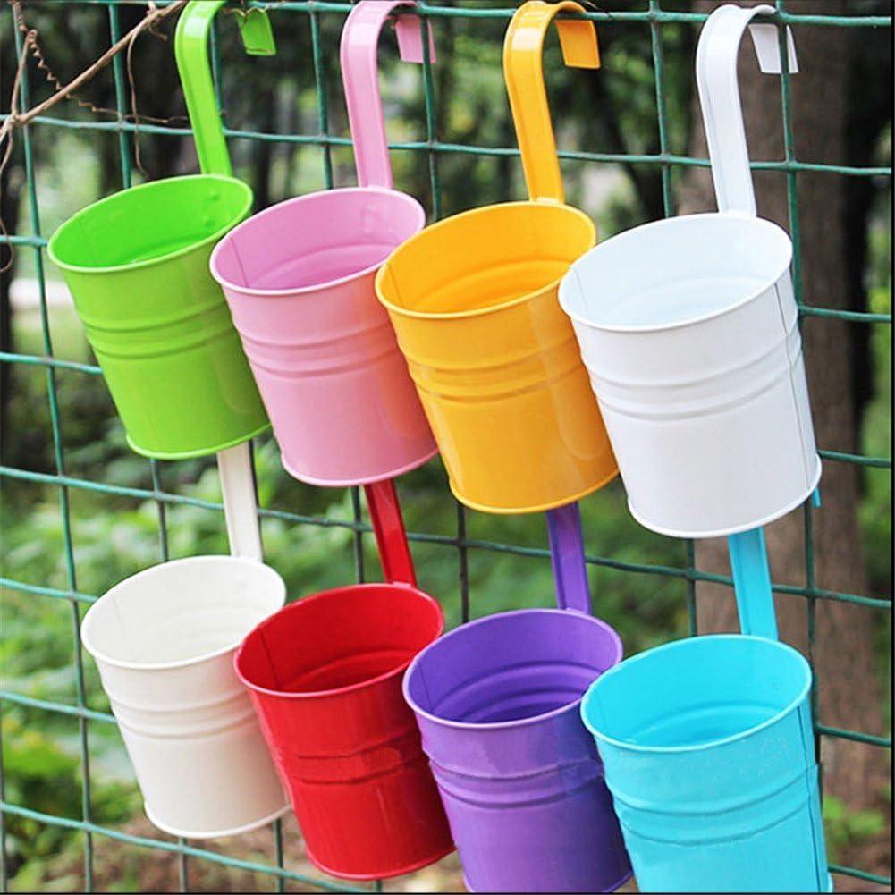 westeng scorrevole da metallo fiore vasi vaso di fiori appeso balcone giardino piante fiori
