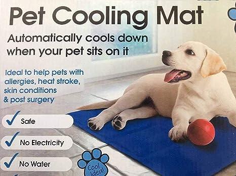 Mega Jumble Self Cooling Gel Pet Dog Cat Cool Mat Pad Bed Mattress Heat Relief Non Toxic 60 X 40cm Blue