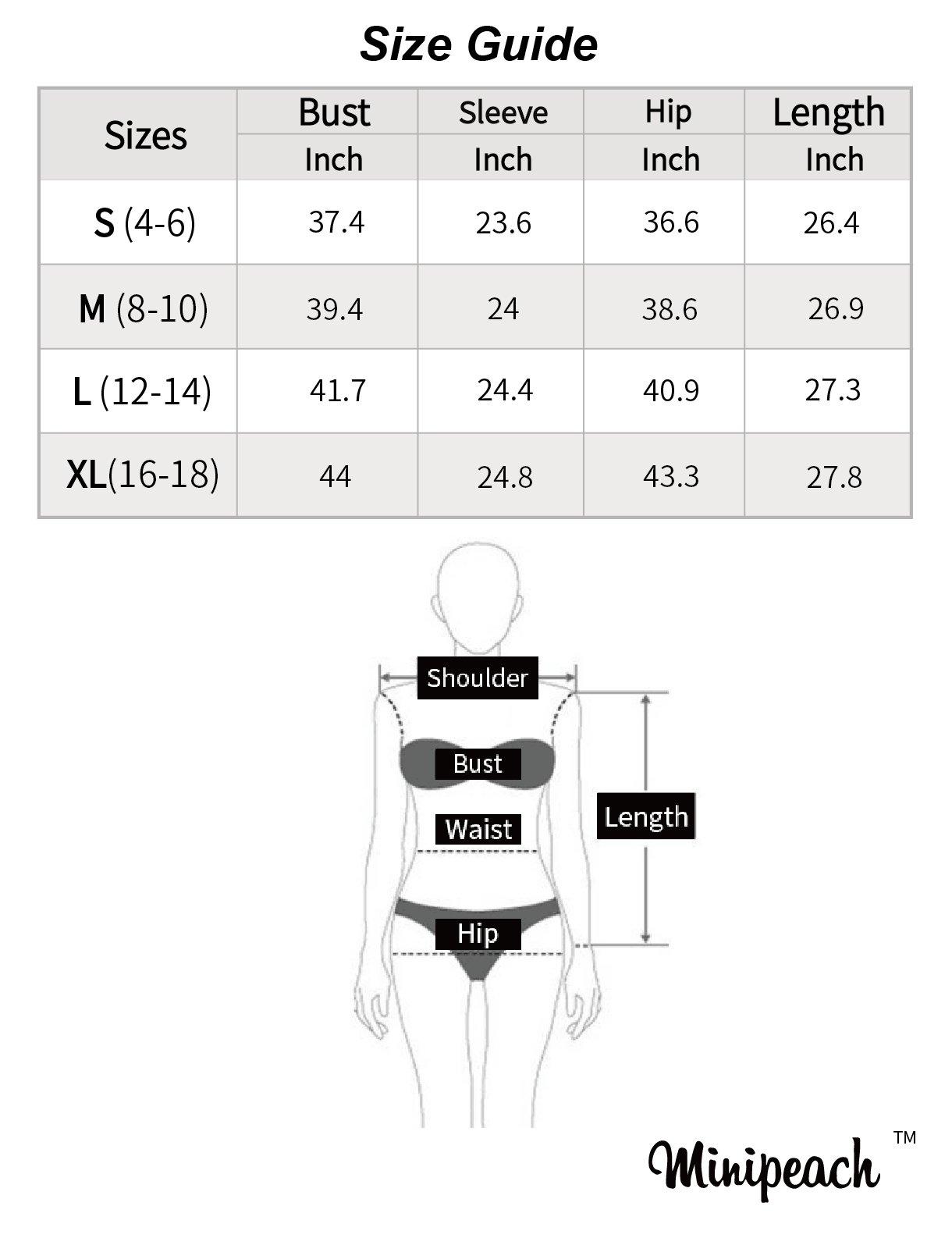 Minipeach Women's Pullover Long Sleeve Hoodies Coat Loose Casual Sweatshirts with Pocket by Minipeach (Image #7)
