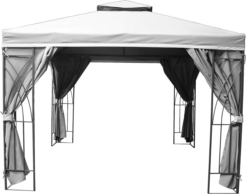 MASTERS OUTDOOR LEISURE LTD Gazebo Buckingham - Toldo Impermeable con Forro de PVC (3 m x 4 m, Incluye Cortinas con Cremallera): Amazon.es: Jardín