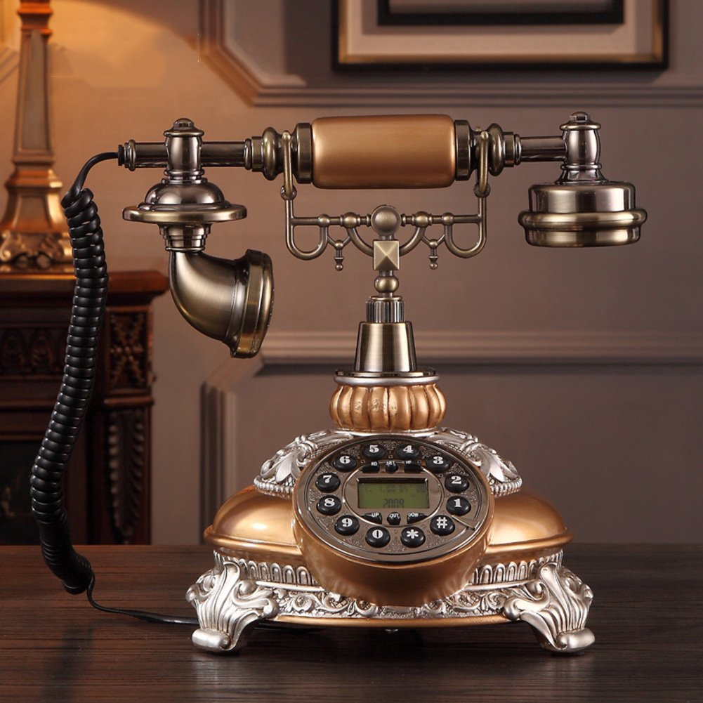 Antique Corded Phone Retro Creative Old Fashioned Telephone Antique Home Landline Fixed Phone Perfect Home Byen120