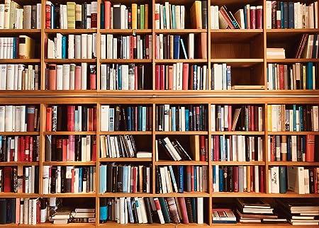 AIIKES 7x5FT Estantería para Libros Fondo de fotografía Escuela Biblioteca Estudio Estantería Escena Niños Fotografía Fondos Fondos fotográficos ...