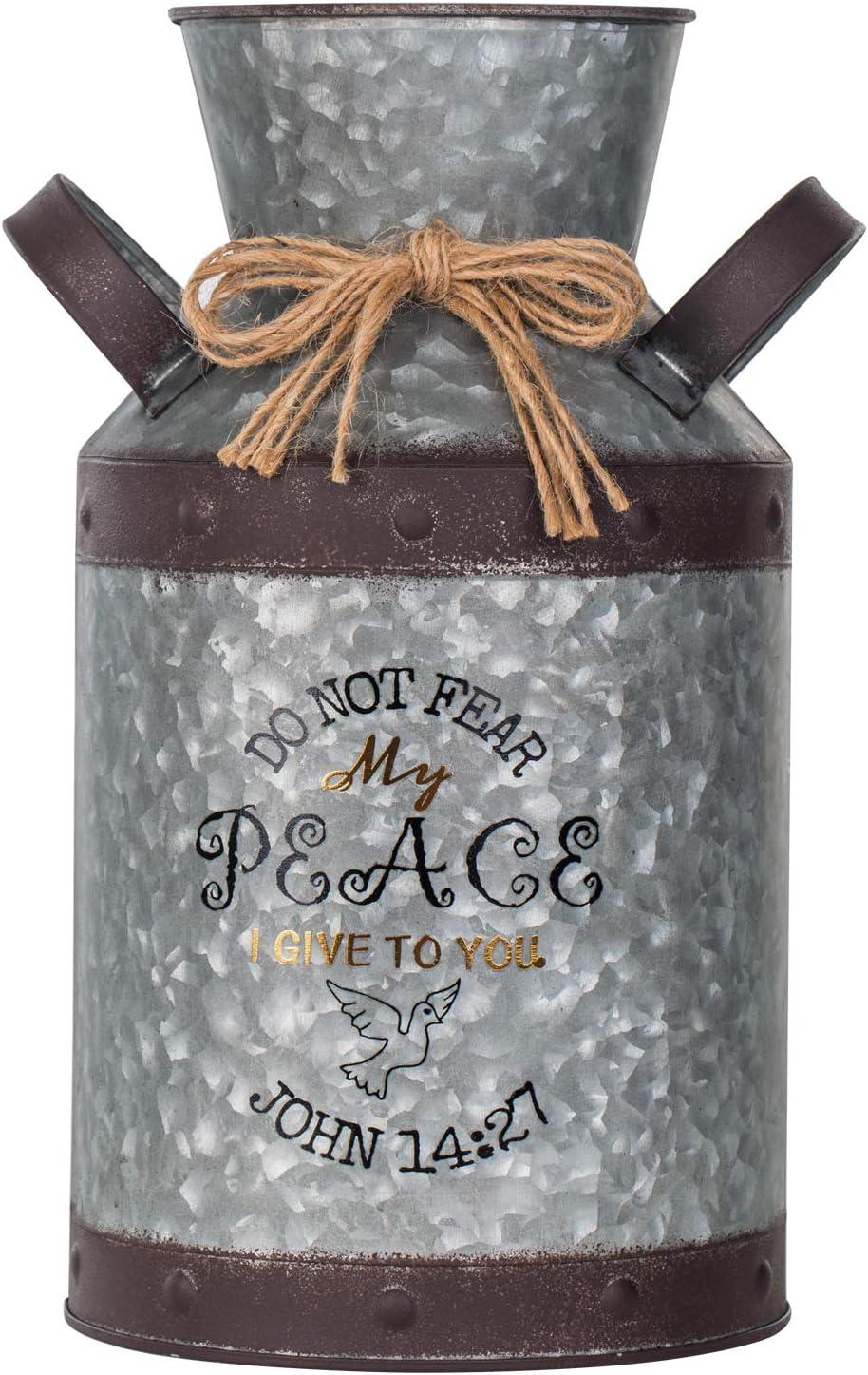 Decorative Galvanized-Metal Can Garden Decoration Gardening Gift Souvenir Metal Flower Pot Vase