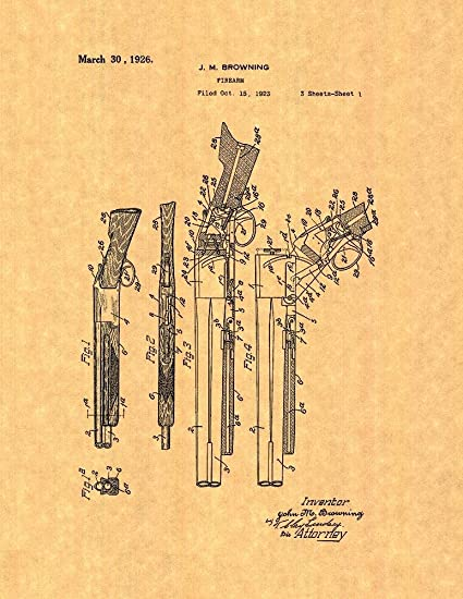 Amazon.com: Browning Superposed over/under shotgun Patent Print Art ...