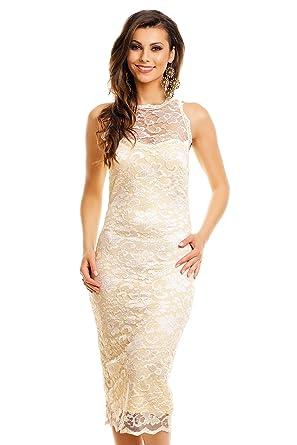 d18c0a37f7b Mayaadi Kleid Spitze Ballkleid Abendkleid Partykleid Cocktailkeid Festkleid  HS-261  Amazon.de  Bekleidung