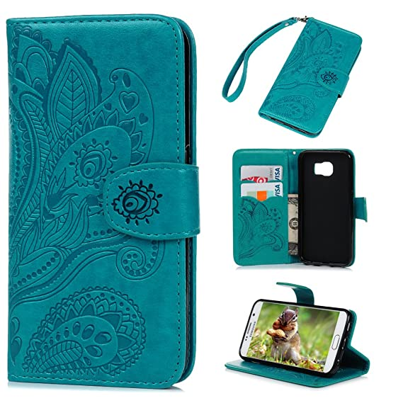 amazon com galaxy s6 case, samsung galaxy s6 case wallet flip