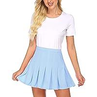 wearella Womens Running Tennis Golf Workout Sports High Waisted Pleated Skirts Elastic Schoolgirl Outfits