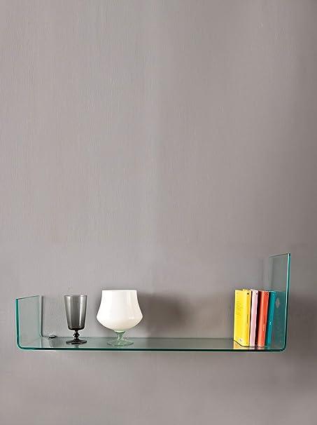 Stones WE//016 Mensola Trasparente Vetro 100x22x36 cm