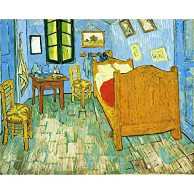 500 Pieces World Famous Painting Wooden Jigsaw Puzzle for Adults Kids,Van Gogh Painting - Bedroom, Entertainment Educational Toy, Relieve Stress Puzzles Toy,DIY Art Home Decoration: Toys & Games