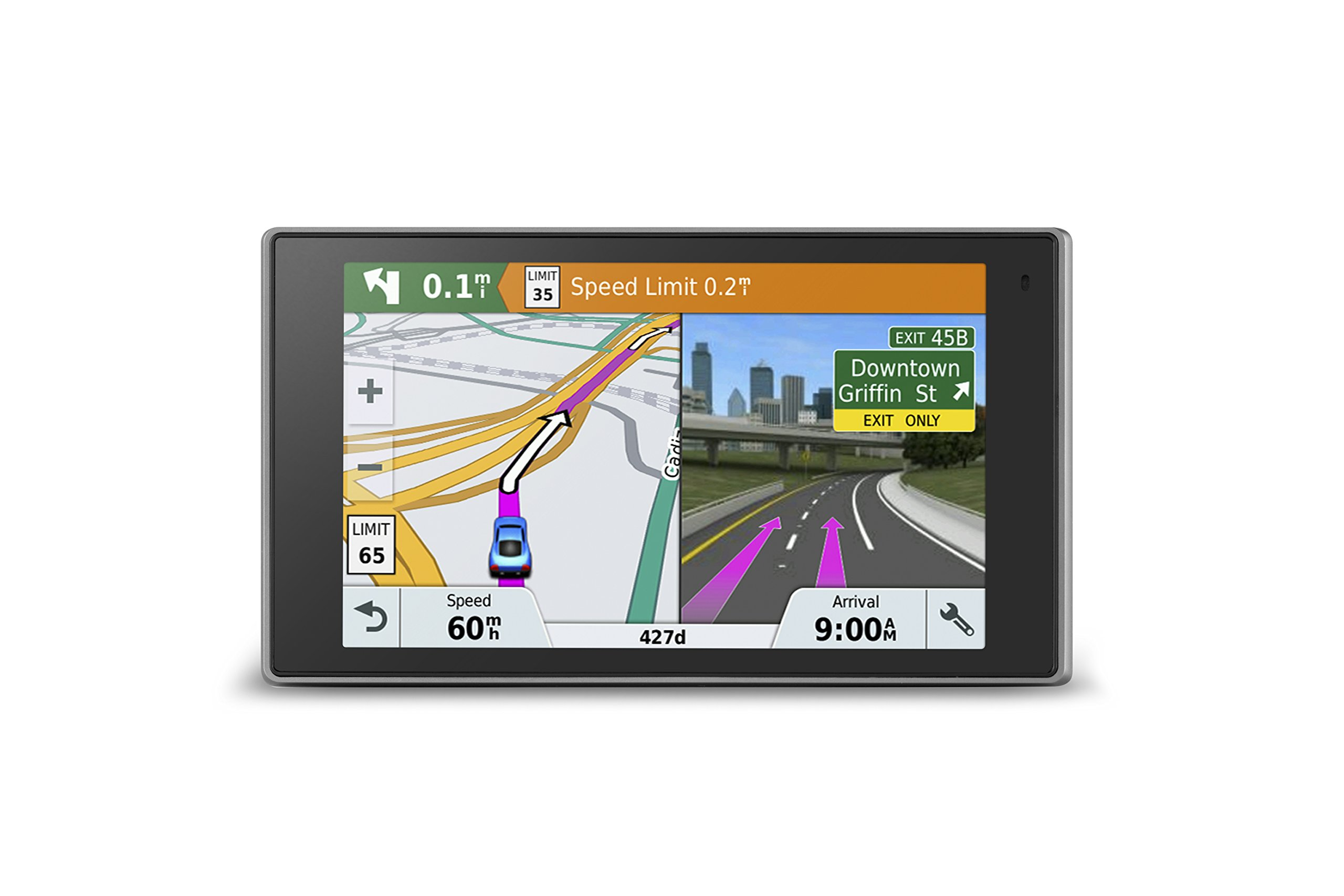 Garmin DriveLuxe 51 NA LMT-S with Lifetime Maps/Traffic, Live Parking, Bluetooth, WiFi, Smart Notifications, Voice Activation, Driver Alerts, TripAdvisor, Foursquare by Garmin
