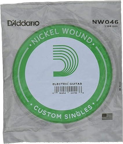 DAddario NW046 - Cuerda individual con entorchado en níquel para ...