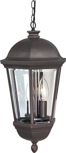 Craftmade Z3011-OBO Britannia Outdoor Ceiling Pendant Lighting, 3-Light 180 Watts 12 W x 23 H , Oiled Bronze